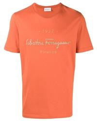 Salvatore Ferragamo Logo Print Short Sleeve T Shirt