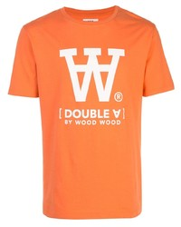 Wood Wood Logo Print T Shirt