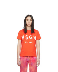 MSGM Orange Milano T Shirt