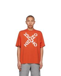 Kenzo Orange Sport Big X T Shirt