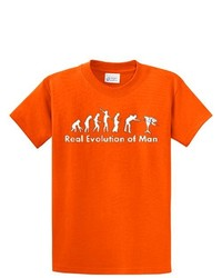 Trenz Shirt Company Billiards T Shirt Real Evolution Of Man Orange Xl