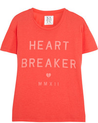 Zoe Karssen Heart Breaker Cotton And Modal Blend T Shirt