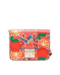 Orange Print Crossbody Bag