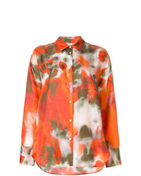 MSGM Abstract Print Shirt