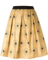 Eggs carlito sun print full midi skirt medium 547597