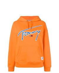 Orange Print Hoodie