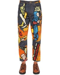 J.W.Anderson 20cm Stain Glass Printed Denim Jeans
