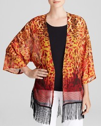 Bloomingdale's Status By Chenault Ikat Open Cardigan