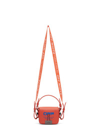 Off-White Orange Wavy Logo Baby Flap Bag