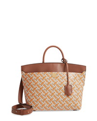 Burberry Small Society Tb Print Leather Bag