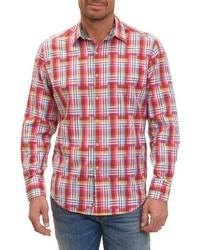Tyson classic fit print sport shirt medium 3694057
