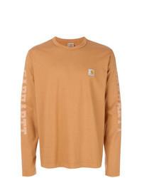 Orange Print Long Sleeve T-Shirt