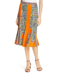 Tory Burch Print Midi Skirt