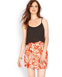 Forever 21 Contemporary Linen Blend Paisley Skirt