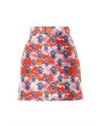 House of Holland Tropical Dove Print Mini Skirt