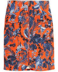 Matthew Williamson Printed Stretch Scuba Jersey Mini Skirt