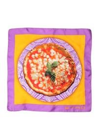 Etro Pizza Printed Silk Satin Pocket Square