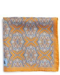 Medallion silk pocket square medium 396515