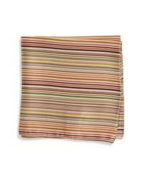 Paul Smith Multistripe Silk Pocket Square