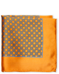 Pierre Cardin Silk Circle Link Pocket Square