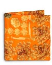 Etro Silk Pasta Print Pocket Square