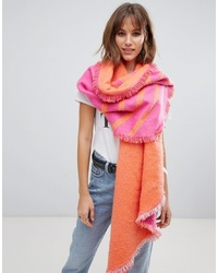 Esprit Double Sided Scarf In Pink