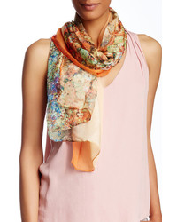 David & Young Floral Print Oblong Scarf