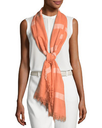 Michl stars cobblestone road printed scarf orange medium 4416094