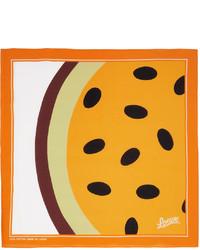 Loewe Orange Paulas Ibiza Passionfruit Print Scarf