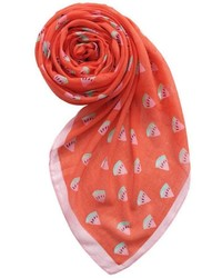 Printed Village Watermelon Motif Scarf