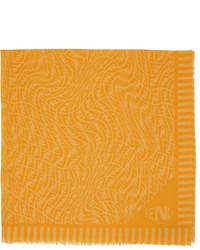 Fendi Yellow Orange Ff Vertigo Scarf