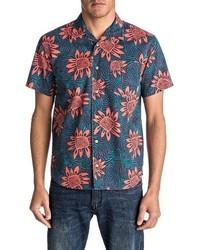 Quiksilver Floral Print Short Sleeve Sport Shirt