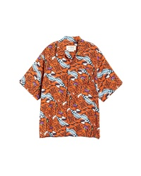 Marni Print Short Sleeve Button Up Shirt