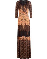 Printed silk maxi dress medium 725087