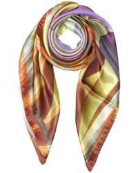 Mila Schon Geometric Print Silk Square Scarf