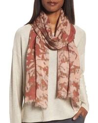 Eileen Fisher Print Silk Wool Scarf