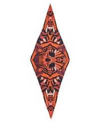 Alexander McQueen Skull Tiger Moth Print Silk Twill Scarf