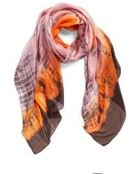 Tie dye silk scarf medium 324762