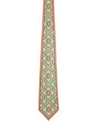 Casablanca Beige Pink Silk Monogram Tie