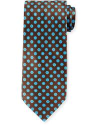 Stefano Ricci Neat Circle Print Silk Tie