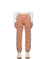 Orange Print Sweatpants