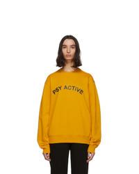 Orange Print Sweatshirt