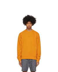 Saturdays Nyc Orange Bowery United Crewneck Sweatshirt