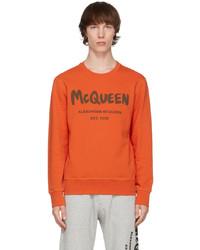 Alexander McQueen Orange Graffiti Sweatshirt