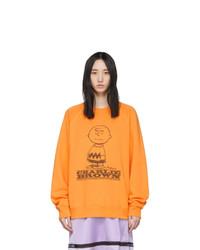 Marc Jacobs Orange Peanuts Edition Charlie Brown Sweatshirt