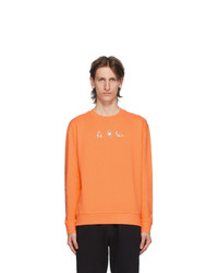 MAISON KITSUNÉ Orange Yoga Fox Patches Sweatshirt
