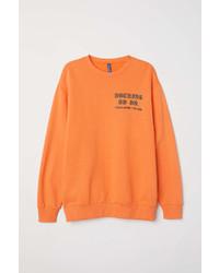 H&M Sweatshirt With Printed Motif