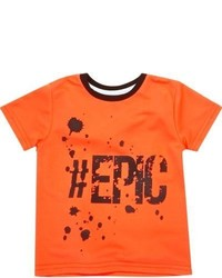 River Island Mini Boys Orange Print T Shirt