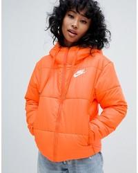 Nike Orange Small Logo Padded Jacket