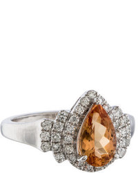 Ring 14k Topaz Diamond